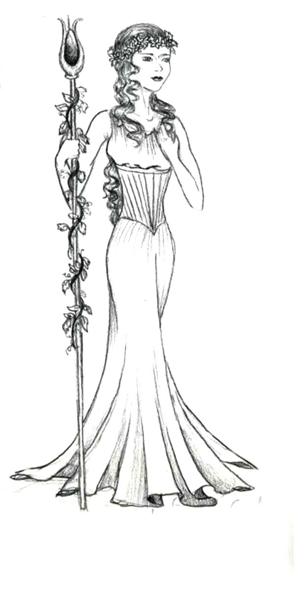 aphrodite is so beautiful coloring page
