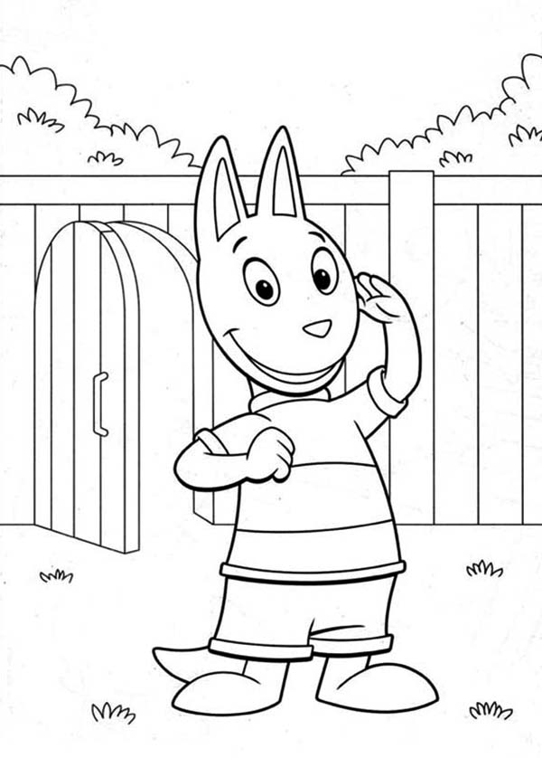 The Backyardigans, : Austin Just Arrived in the Backyardigans Coloring Page