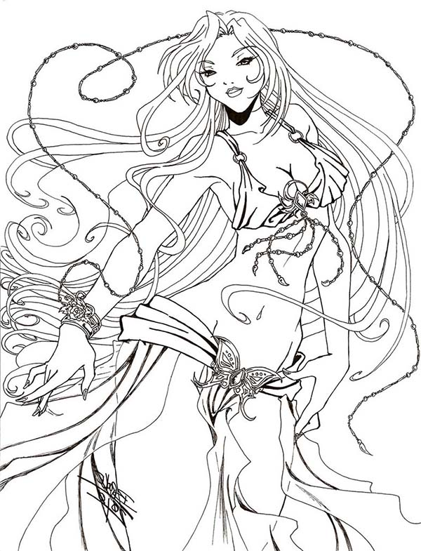 Aphrodite, : Awesome Drawing of Aphrodite Coloring Page