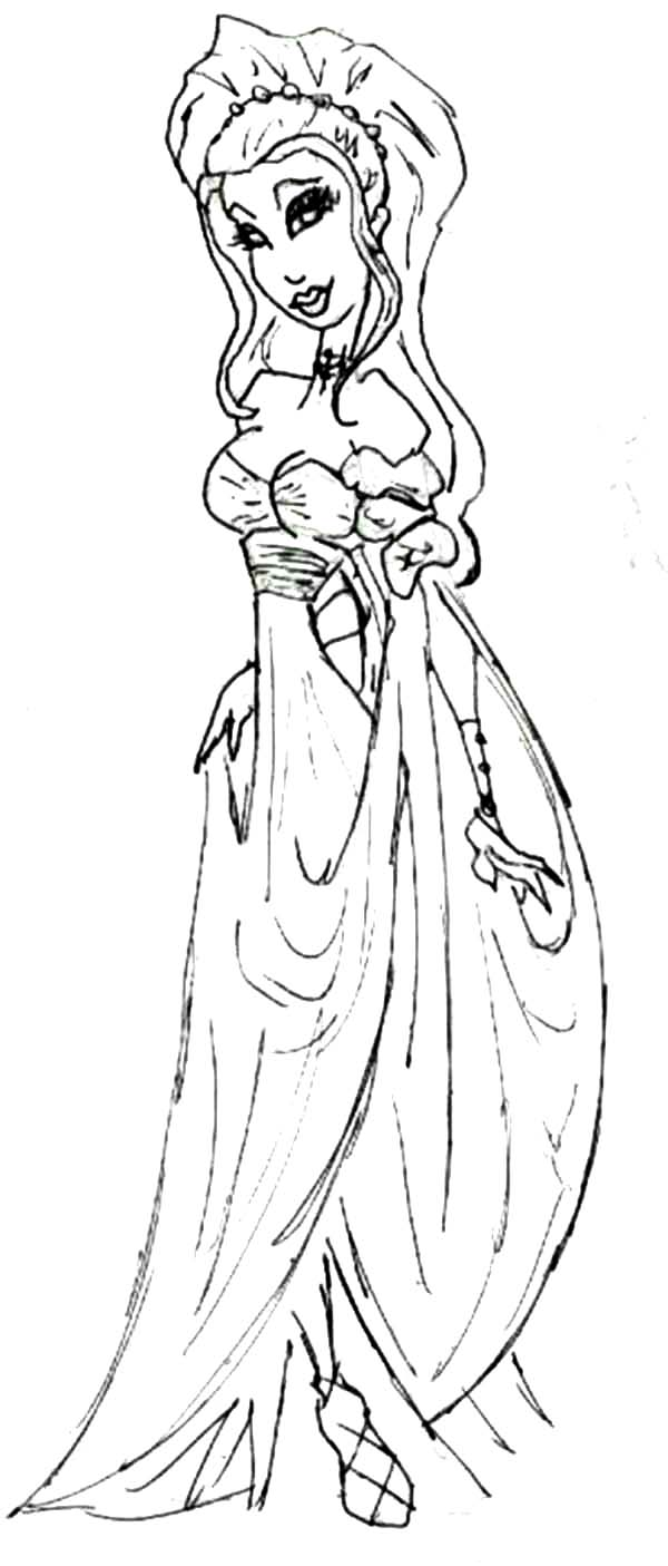 Aphrodite, : Cartoon of Aphrodite Coloring Page
