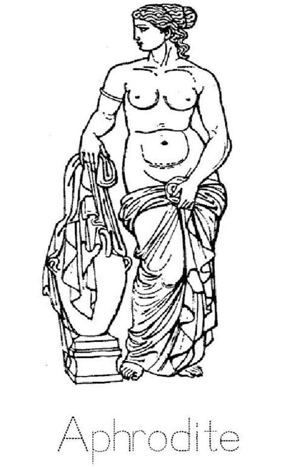 Aphrodite, : Greek Mythology Aphrodite Coloring Page