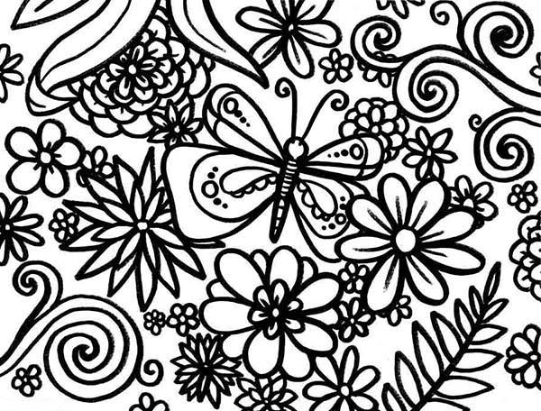 Spring, : Happy Spring Season Coloring Page