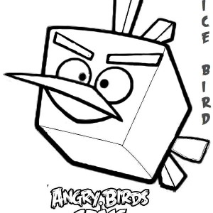 Angry Bird Space Coloring Pages Orange