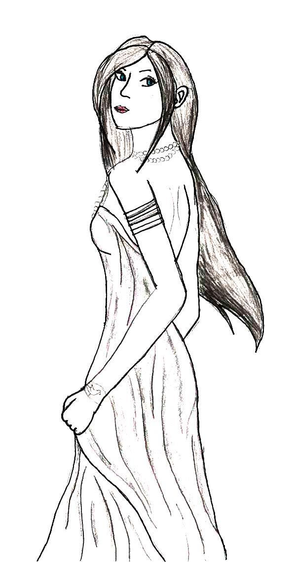 Aphrodite, : Lady Aphrodite Coloring Page