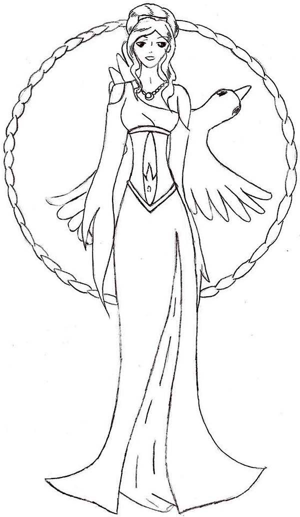 Aphrodite, : Manga Picture of Aphrodite Coloring Page