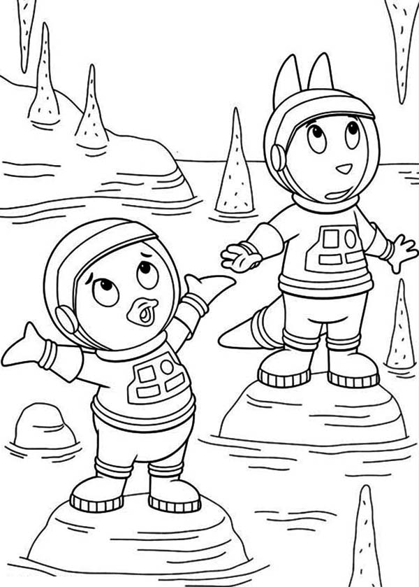 The Backyardigans, : Pablo and Austin is Amazed Because of Stalactite in the Backyardigans Coloring Page