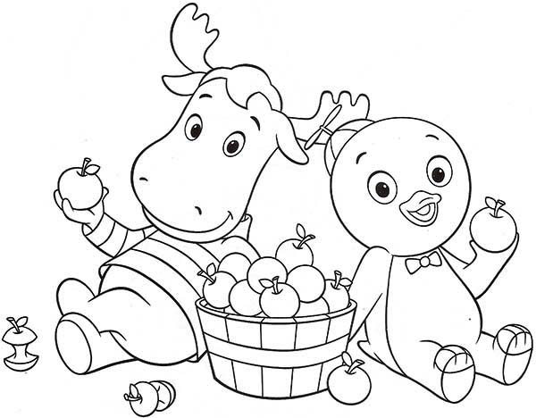 The Backyardigans, : Pablo and Tyrone Eat Some Fruit in the Backyardigans Coloring Page