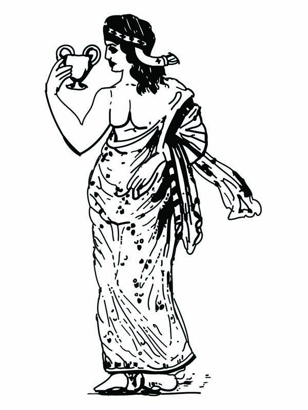 Aphrodite, : Picture of Greek Goddess Aphrodite Coloring Page