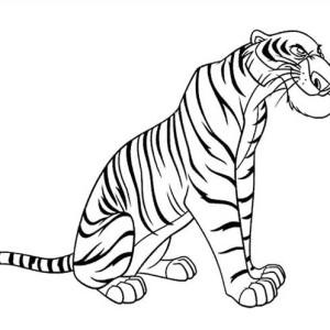 Shere Khan The Bengal Tiger In Jungle Book Coloring Page