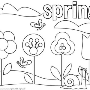 Happy Spring Coloring Pictures
