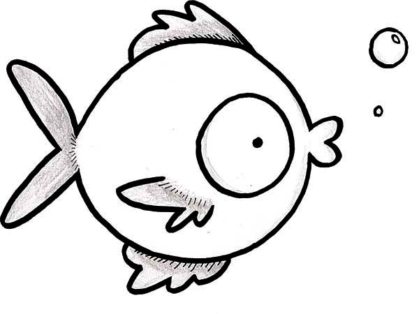 Puffer Fish, : Swellfish Puffer Fish Coloring Page