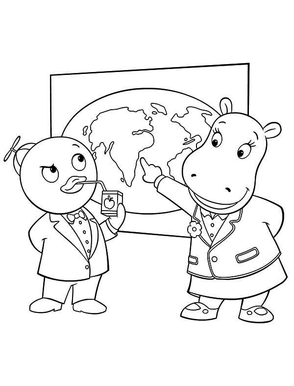 The Backyardigans, : Tasha Show Pablo World Map in the Backyardigans Coloring Page