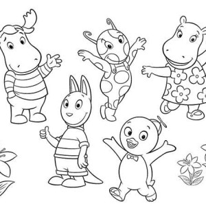 the backyardigans all characters coloring page - Backyardigans Coloring Pages Print