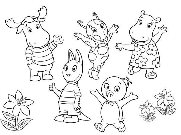 The Backyardigans, : The Backyardigans All Characters Coloring Page