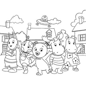 the backyardigans picture coloring page - Backyardigans Coloring Pages Print