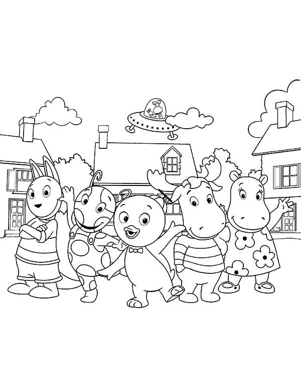The Backyardigans, : The Backyardigans Picture Coloring Page