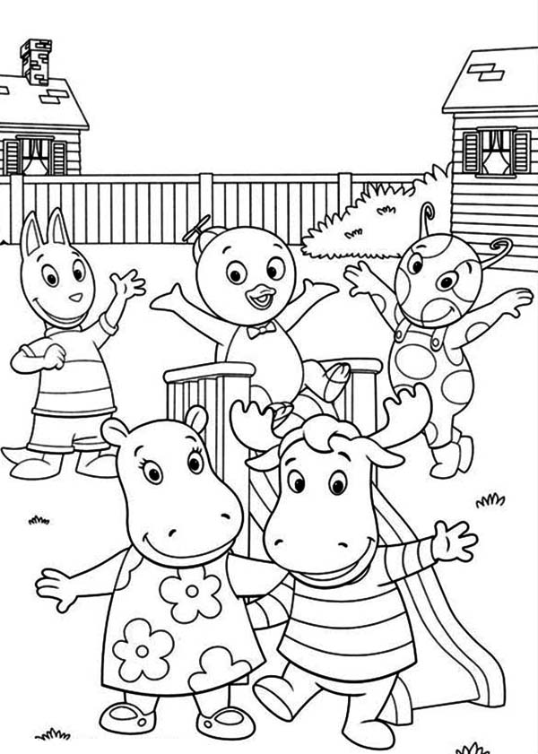 The Backyardigans, : The Backyardigans Play Together Coloring Page