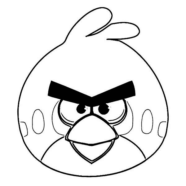 Angry Birds, : The Legendary Red Bird in Angry Bird Coloring Page