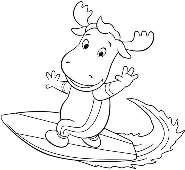The Backyardigans, : Tyrone is Great Surfer in the Backyardigans Coloring Page