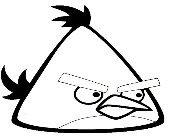 yellow angry bird coloring pages - photo#2