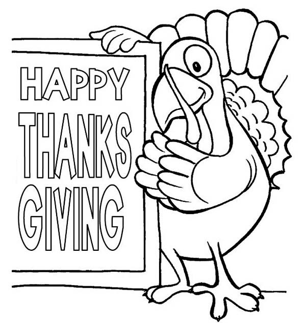Canada Thanksgiving Day, : Joyful Canada Thanksgiving Day Says the Turkey Coloring Page