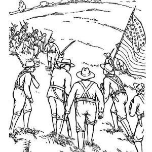 celebrating veterans day with american civil war story coloring page - American Civil War Coloring Pages