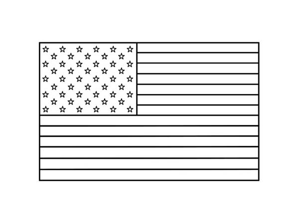 Veterans Day, : Celebrating Veterans Day with the Stars and Stripes Coloring Page