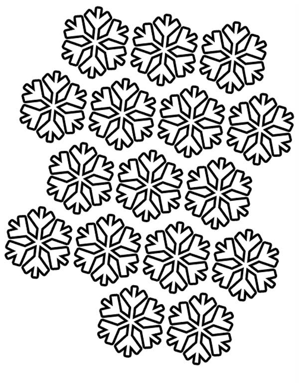 Christmas, : Christmas Snowflakes Pattern Coloring Page