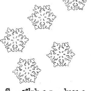 christmas snowflakes from heaven coloring page