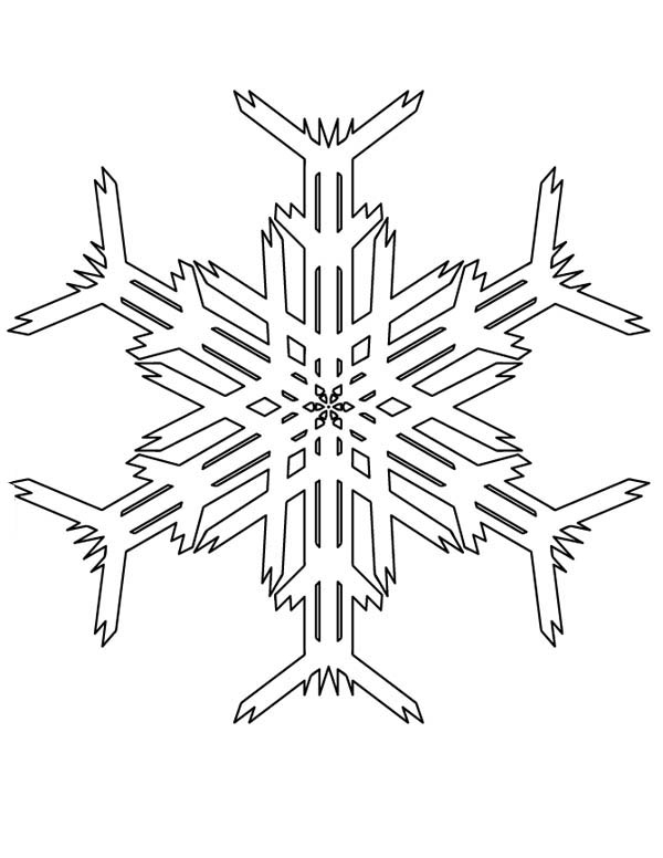 Christmas, : Creating Christmas Snowflakes Picture Coloring Page