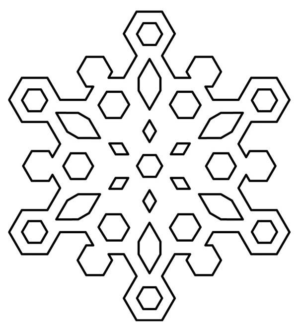 Christmas, : Diamond Christmas Snowflakes Coloring Page