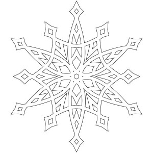 fancy christmas snowflakes coloring page - Christmas Snowflake Coloring Pages