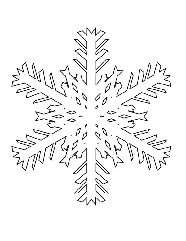 Christmas, : How to Draw Christmas Snowflakes Coloring Page