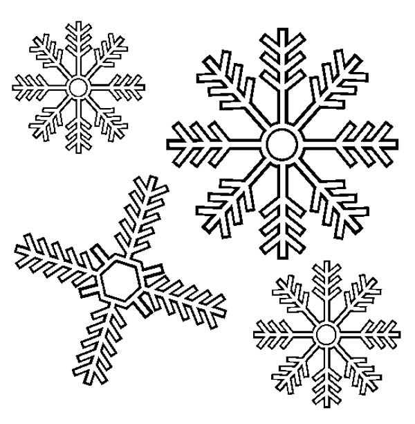Christmas, : Lovely Christmas Snowflakes Coloring Page
