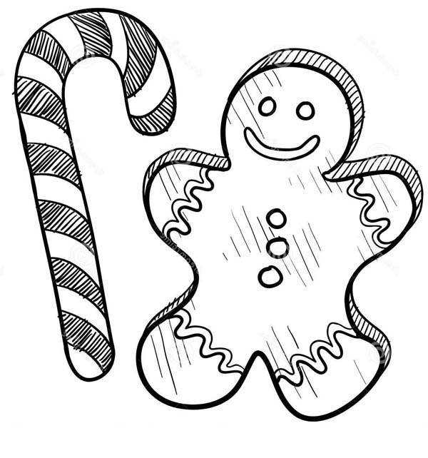 Candy Cane Coloring Page