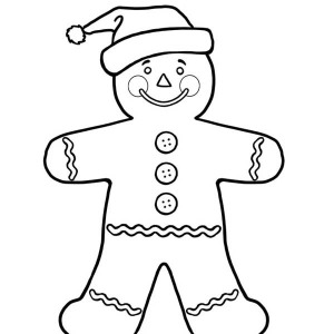 Cute Gingerbread Man Coloring Coloring Pages