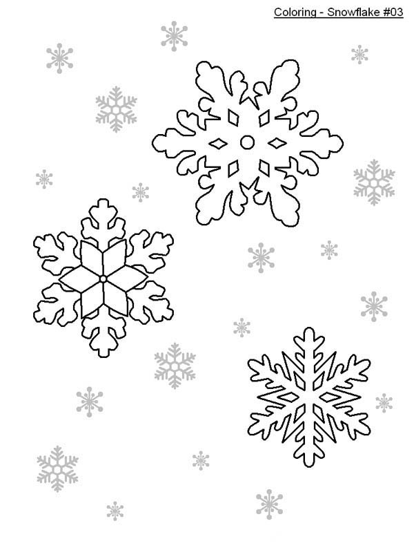 Christmas, : Nice Christmas Snowflakes Coloring Page