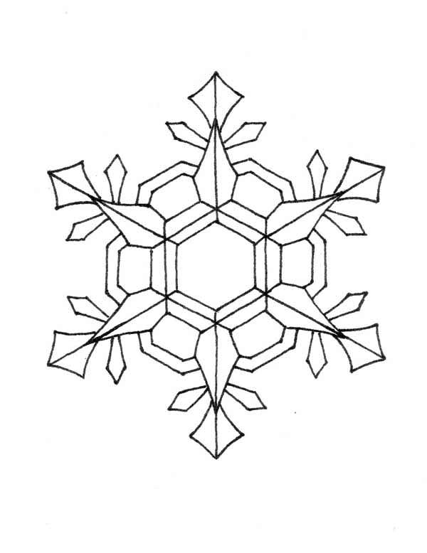 Christmas, : Nifty Christmas Snowflakes Coloring Page