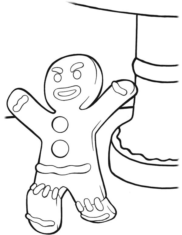 Christmas, : Not So Happy Mr Gingerbread Men on Christmas Coloring Page