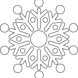 round christmas snowflakes coloring page - Christmas Snowflake Coloring Pages
