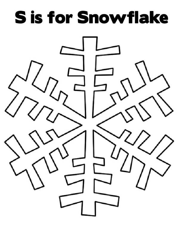Christmas, : S is for Christmas Snowflakes Coloring Page