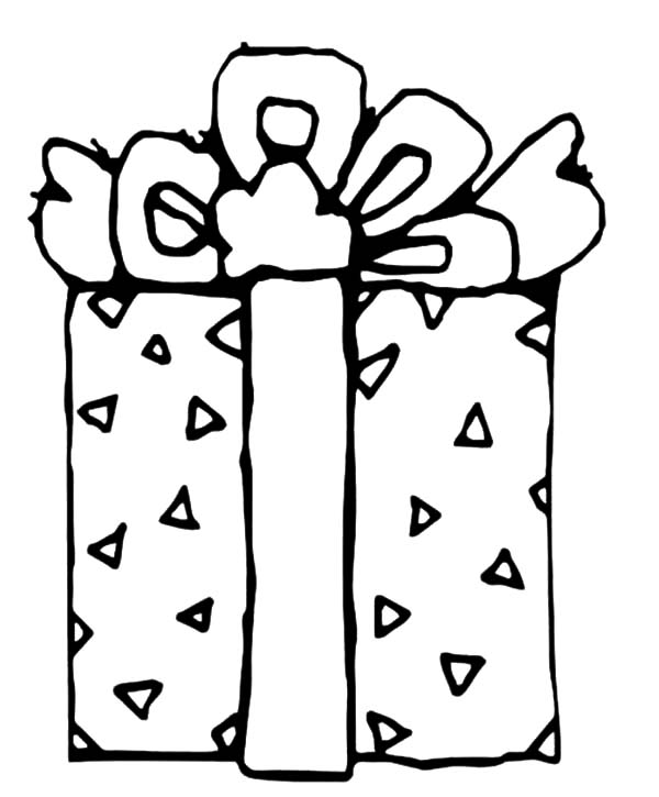 beautifully wrapped christmas presents coloring pages
