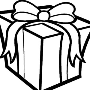 big box of christmas presents coloring pages