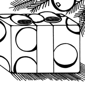 Christmas Presents, Christmas Presents Under Mistletoe Coloring Pages ...