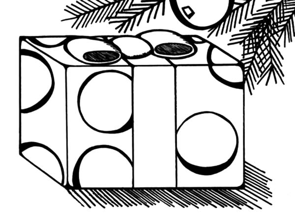 Christmas Presents, : Christmas Presents Under Mistletoe Coloring Pages