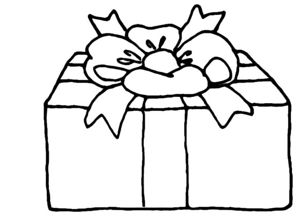Christmas Presents, : Christmas Presents with Flower Shaped Wrapping Coloring Pages