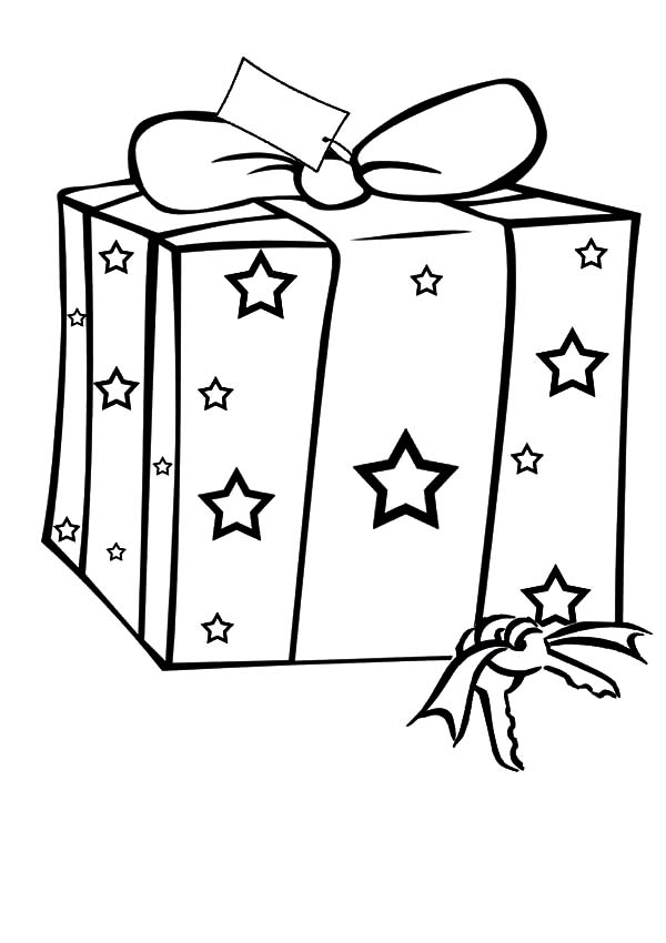 Christmas Presents, : Christmas Presents with Star Picture Coloring Pages