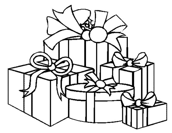 Christmas Presents, : How to Draw Christmas Presents Coloring Pages