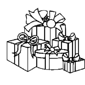 i love christmas presents coloring pages