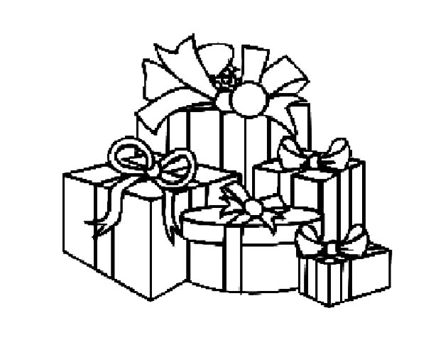 Christmas Presents, : I Love Christmas Presents Coloring Pages